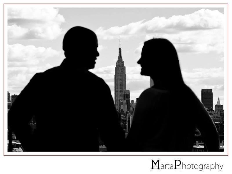 new york skyline engagement session